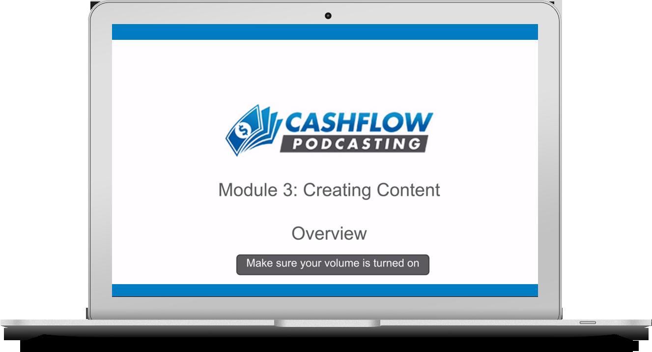 Cashflow Podcasting Course: Recording Content