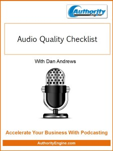 Audio Quality Checklist