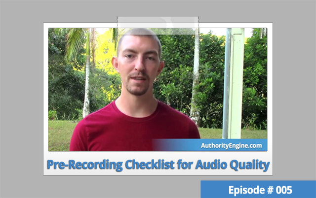 AETV005: Pre-Recording Checklist for Optimal Audio Quality