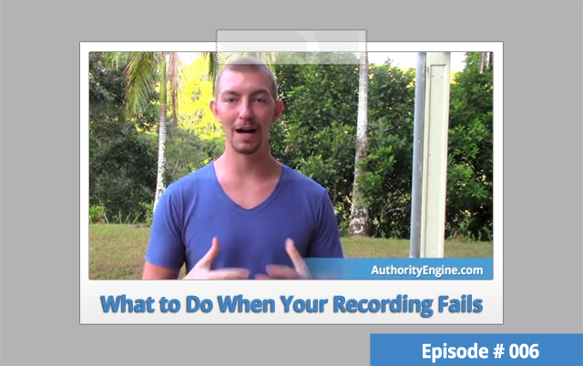 AETV006: What to Do When Your Recording Fails
