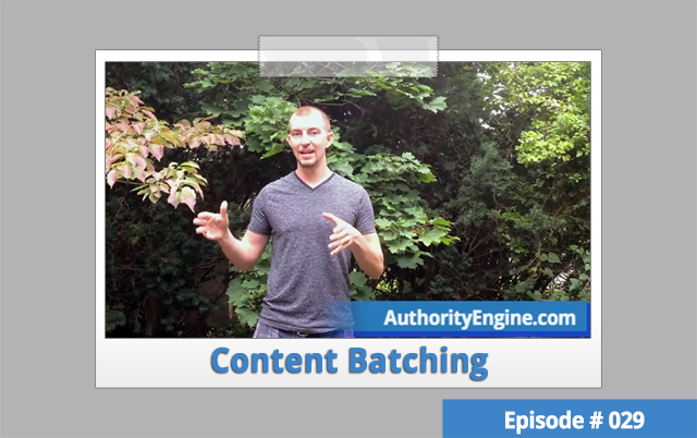 AETV029: How to Get Ahead On Your Content, AKA Batching
