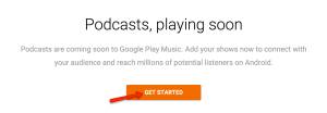 Google Play Music Podcasting