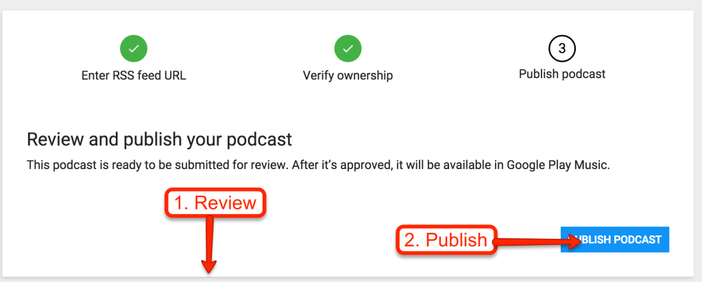 Publish Podcast In Google PlayPublish Podcast In Google Play