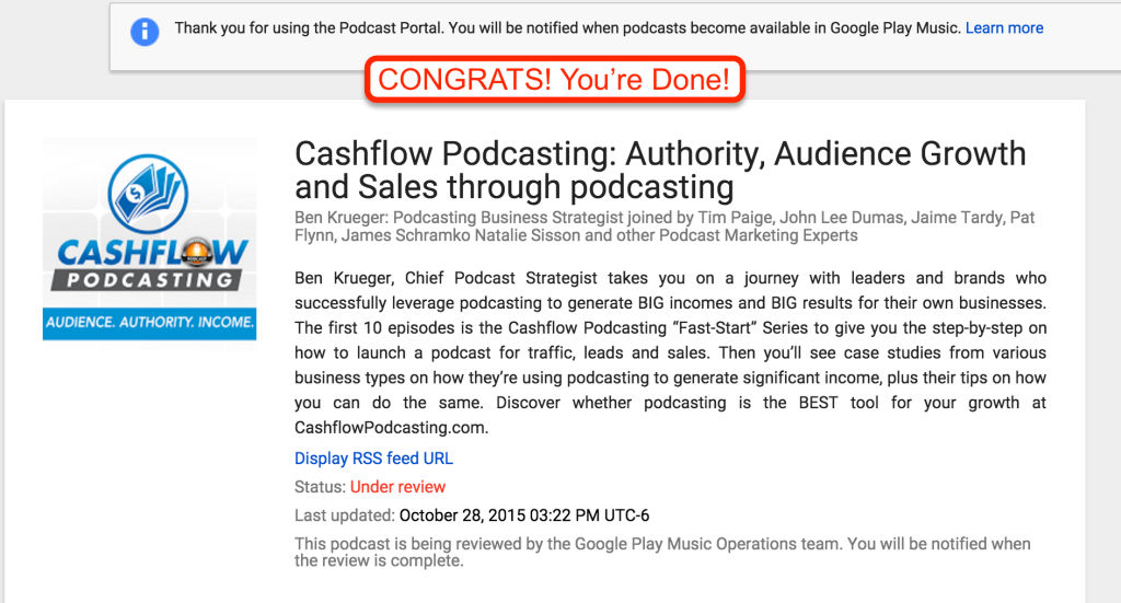 Google PLay Music with Podcasts