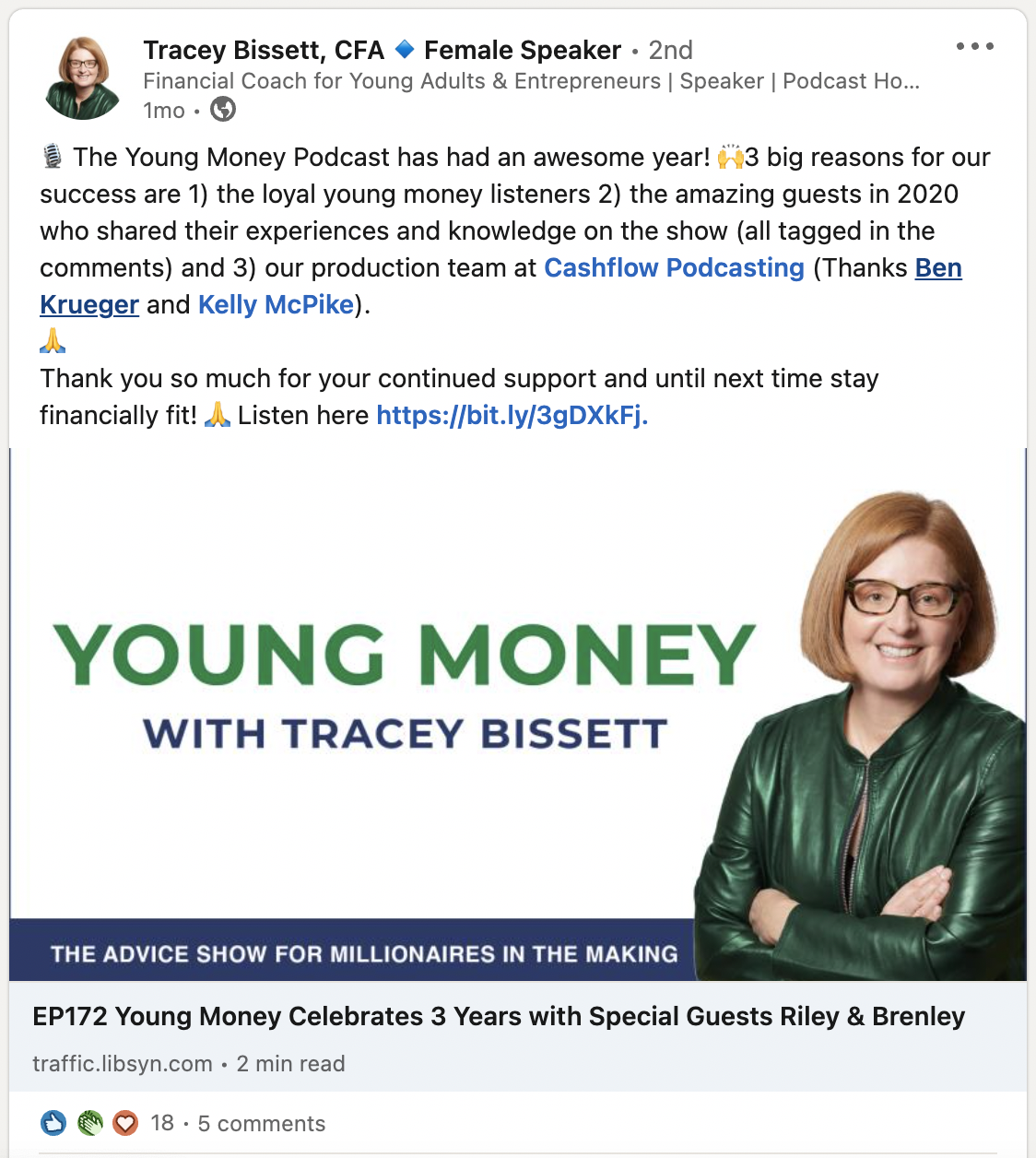 Tracey Bissett Podcast Testimonial